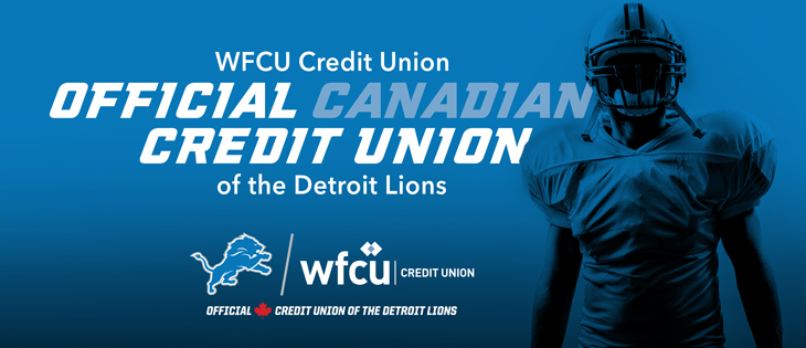 WFCU Credit Union Named Official Canadian Credit Union of the Detroit Lions