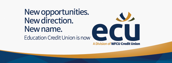 Banner - Education Credit Union Joins Operations with WFCU Credit Union becoming ECU – A Division of WFCU Credit Union