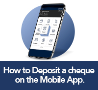 click here to learn how to deposit a cheque on the WFCU mobile app