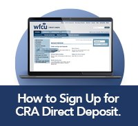 click here to learn how to sign up for CRA Direct Deposit